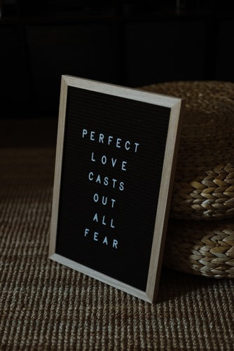 perfect love casts out fear frame
